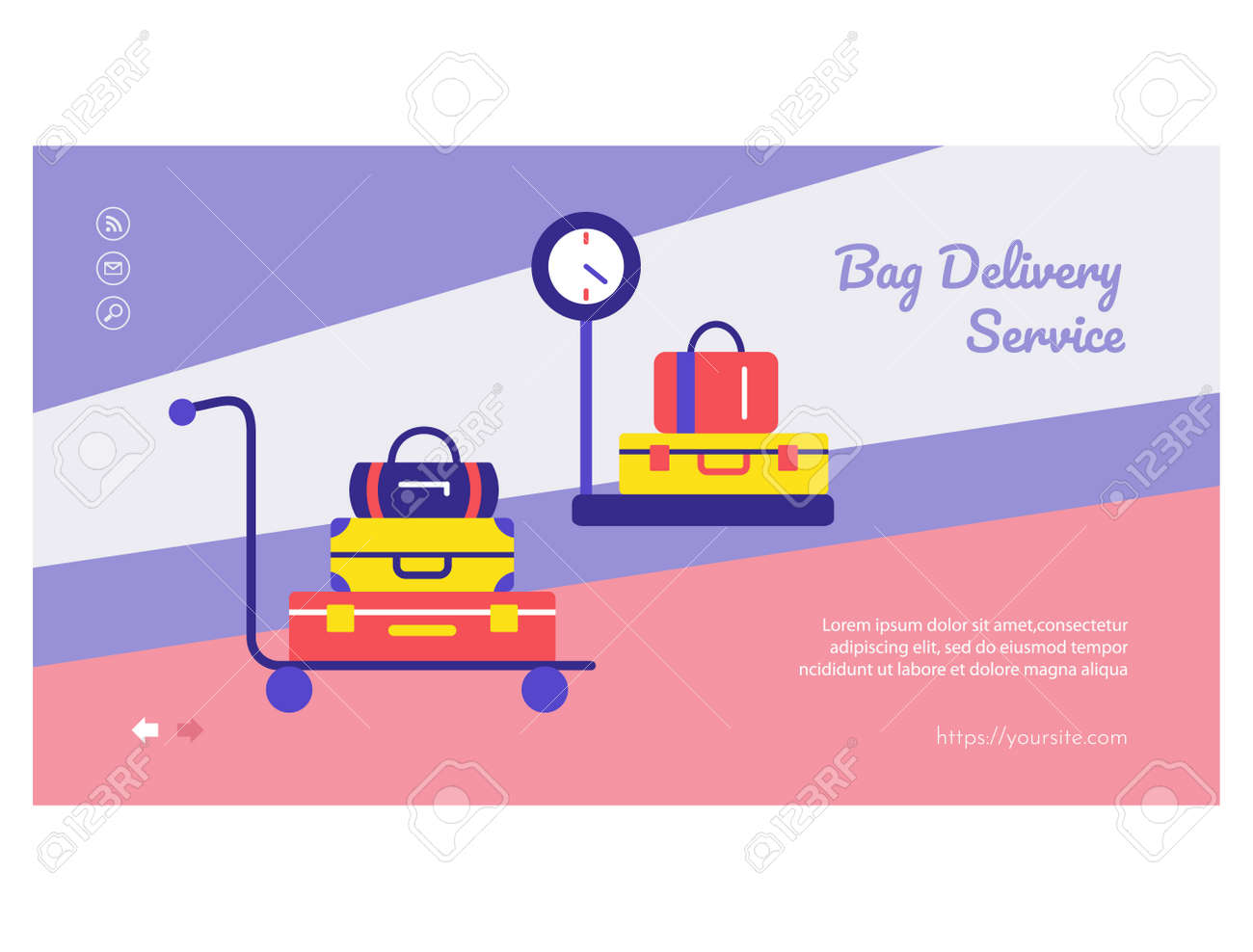 Luggage delivery service mobile app page design - 168346686