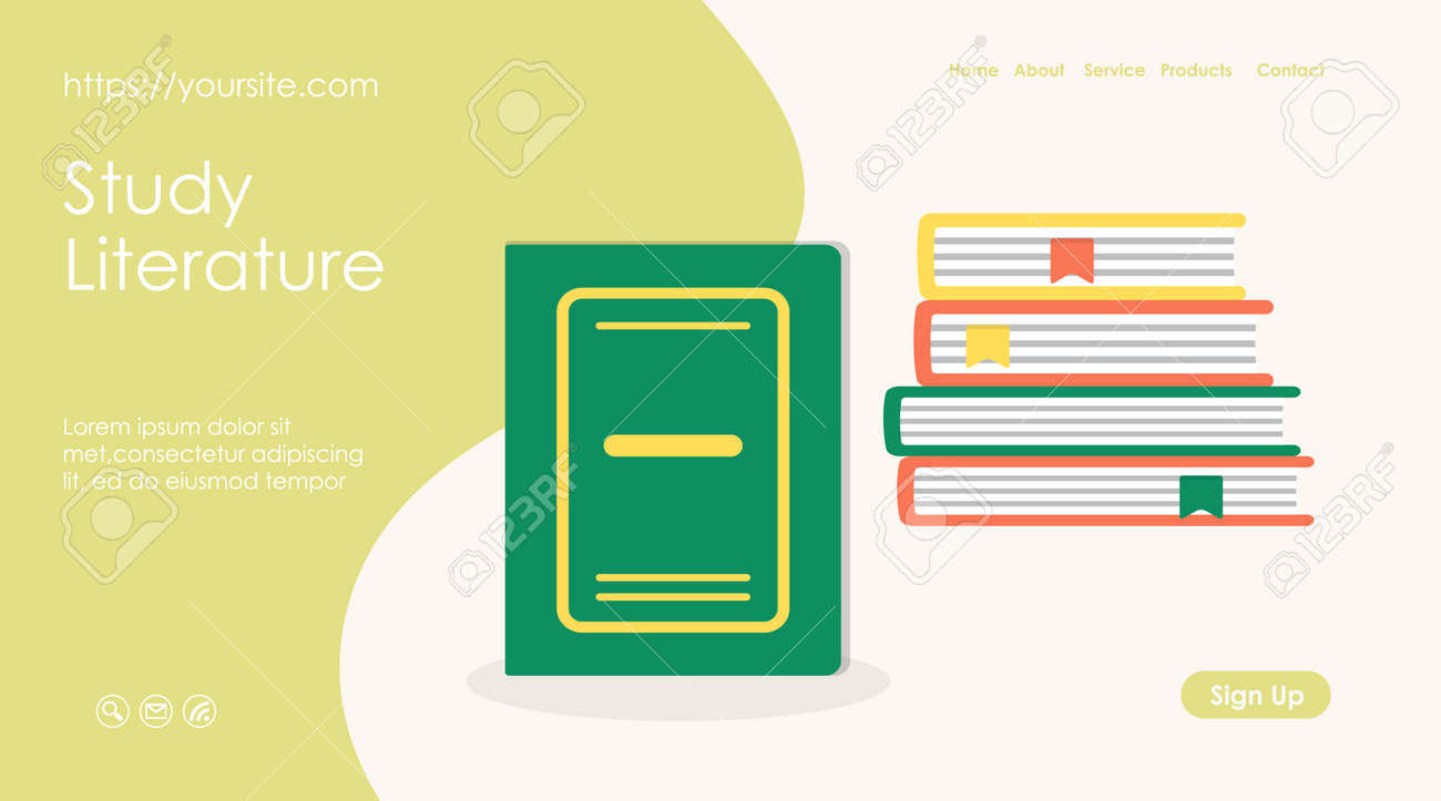 Study literature banner or web page design layout - 168346707