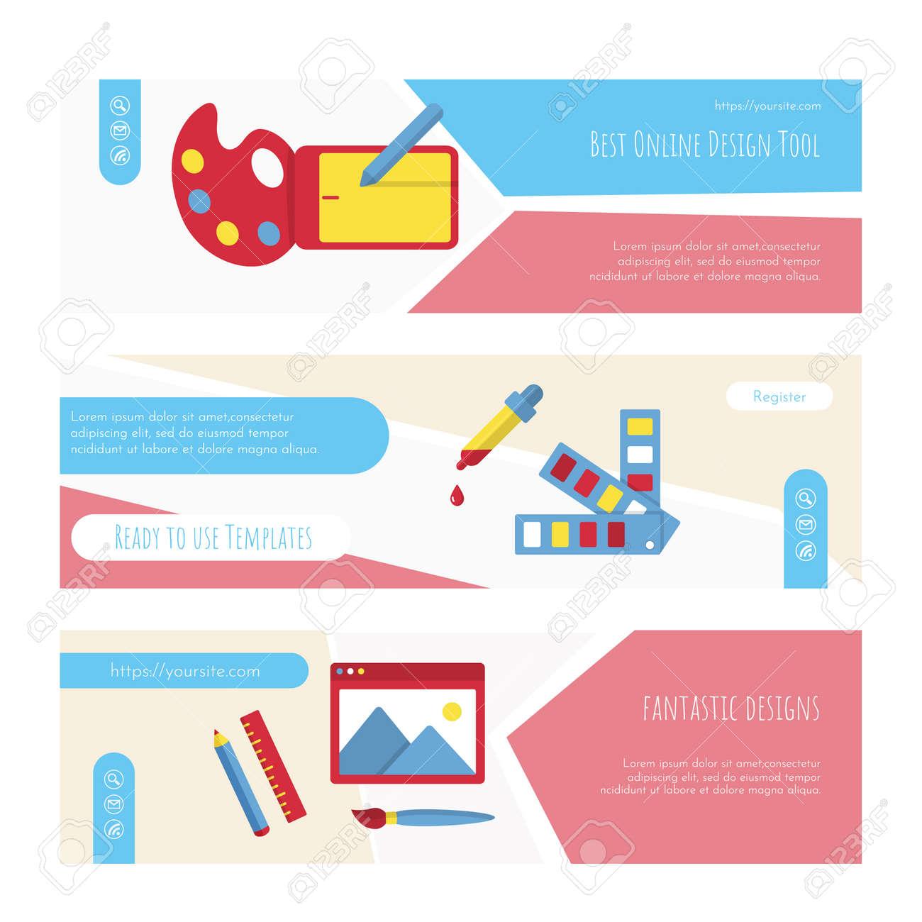Best online design tools web page or banner set - 169164780