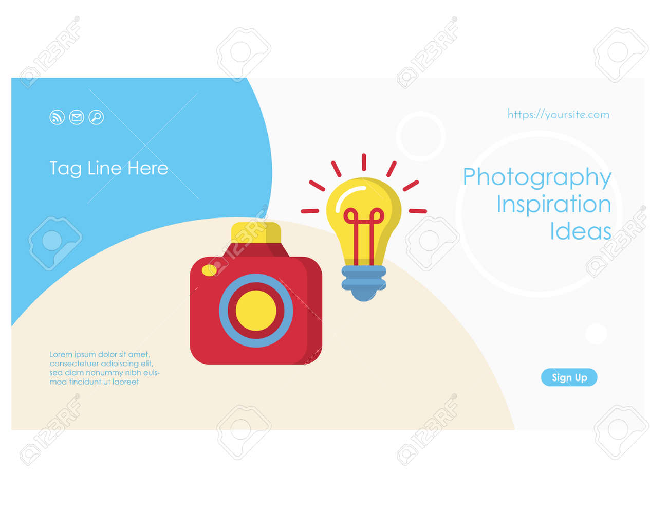 Creative ideas web page or banner flat template - 169164790