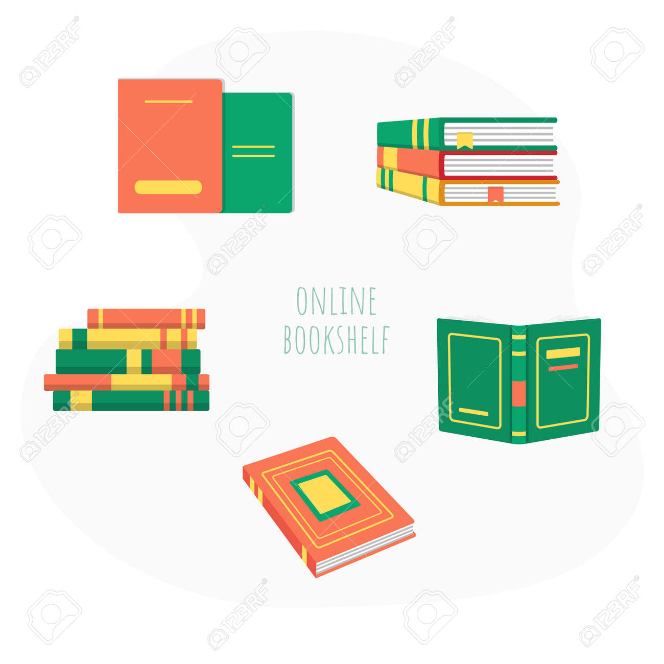 Pile of book education material and literature set - 169164792