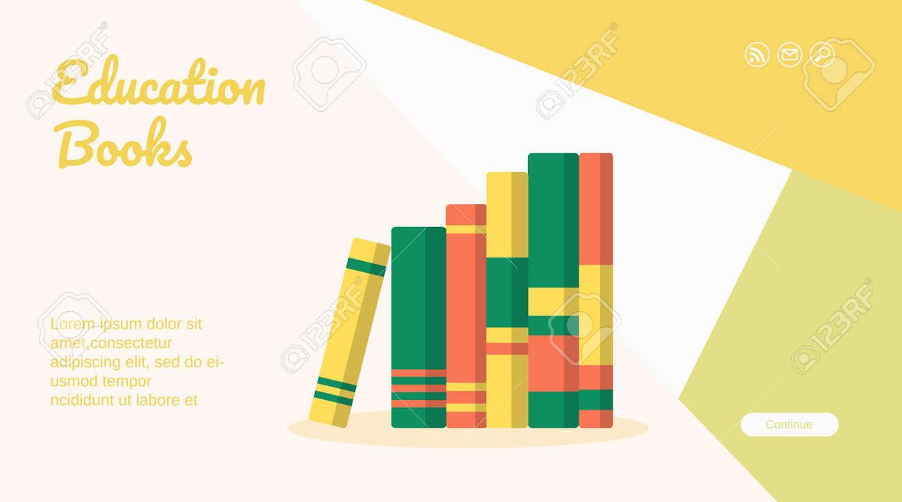 Education book web page mobile app template design - 169164795