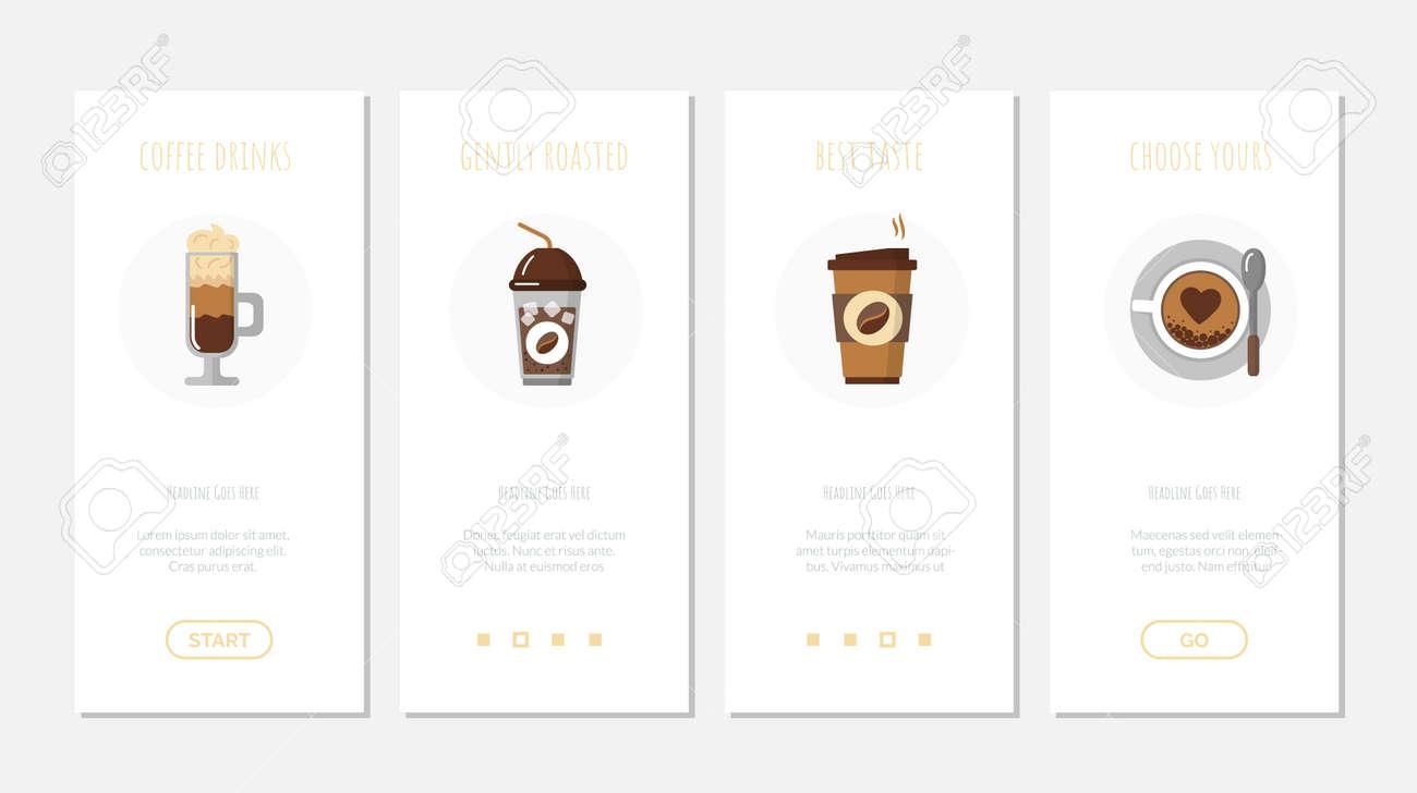 Coffee machine, pro service web page template set - 169165434