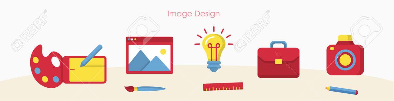 Designer tools or art education signs banner set - 170260488