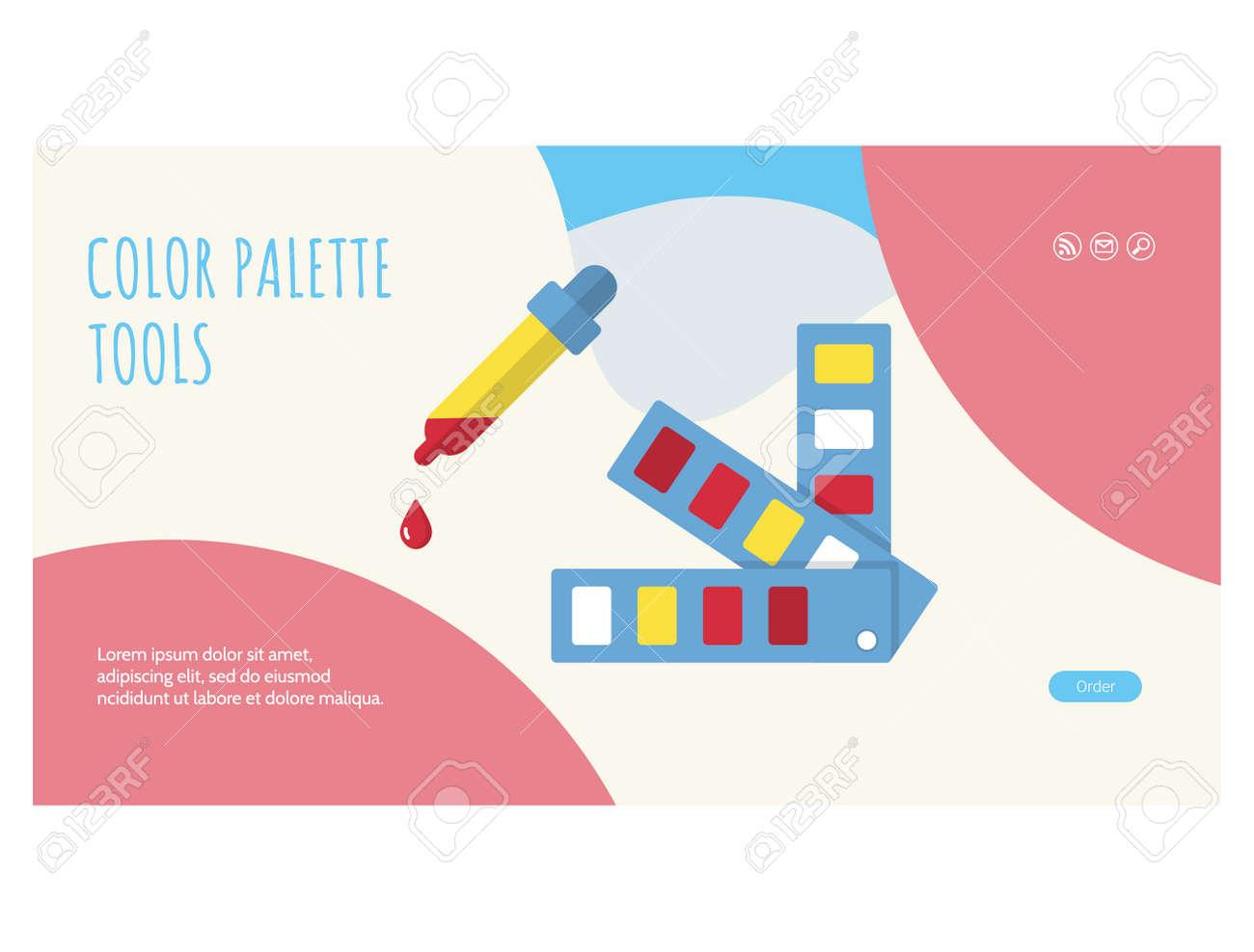 Designer tips and tricks web banner, landing page - 170260489