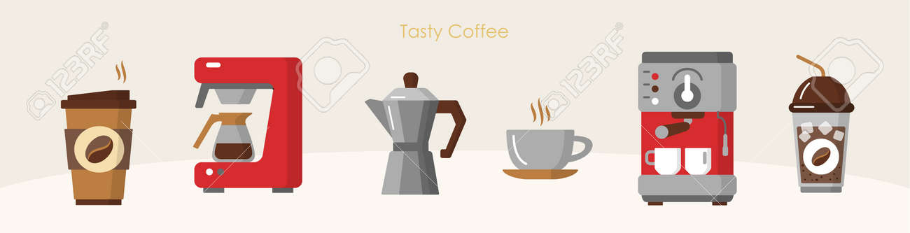 Tasty coffee modern equipment hot drink brewing set - 170260490