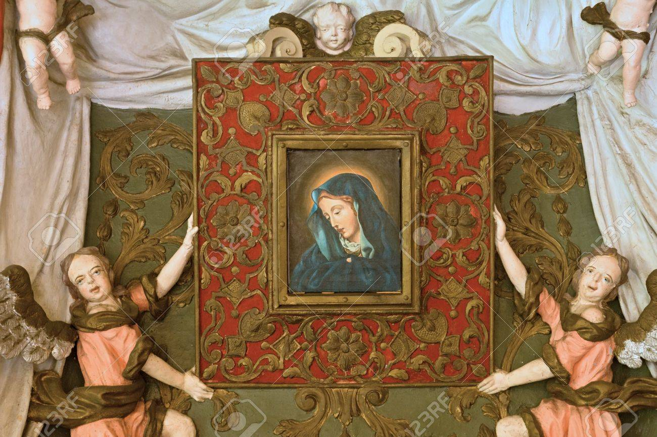 Baroque Painting Of The Virgin Of The Snows