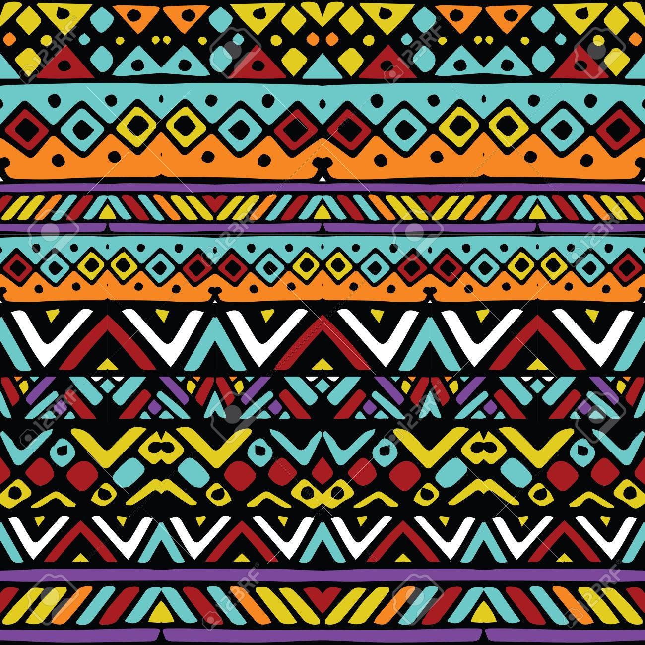 De Colores étnicos Rayas Tribales Mexicanos Sin Patrón Ilustración