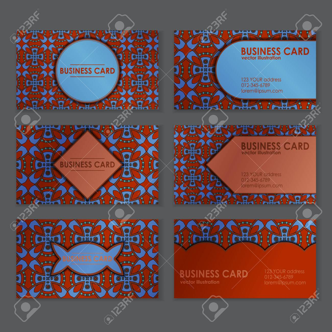 Business card templates with beautiful ethnic motif royalty free business card templates with beautiful ethnic motif stock vector 64174028 flashek Image collections
