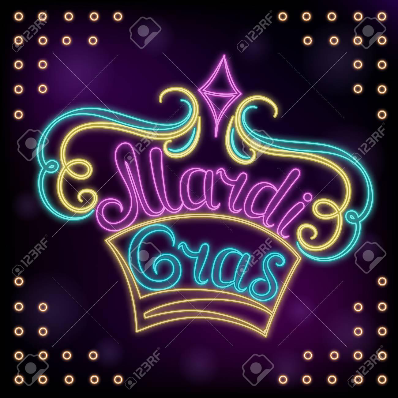 Mardi Gras Hand Lettering Decor For The New Orleans Festival