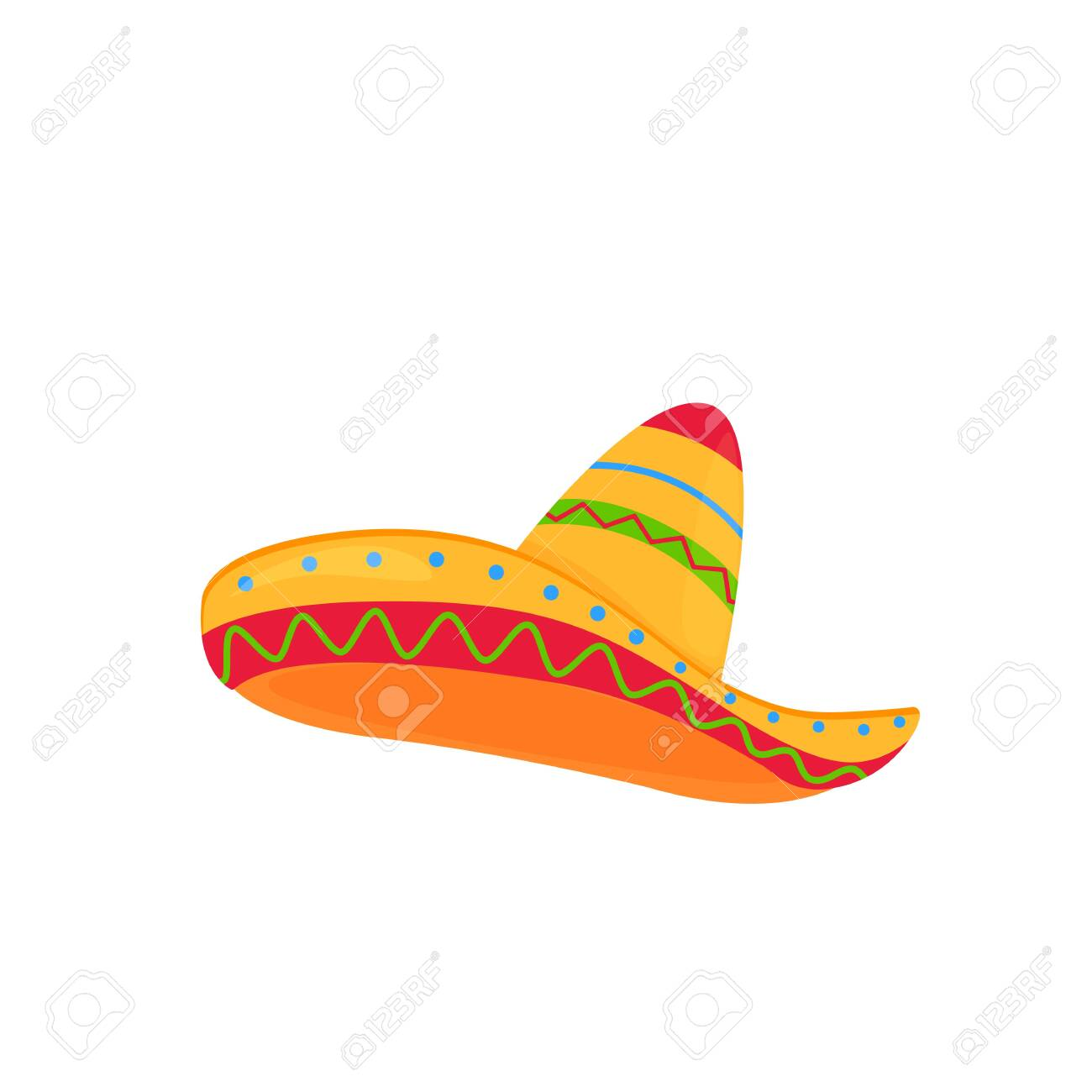 sombrero. mexican hat vector isolated on white background - 122480085