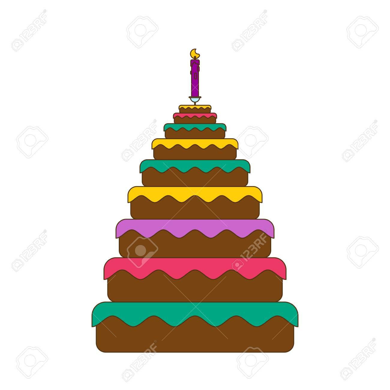 Kuchen Gross Grosser Kuchen Essen Geburtstag Festliches Fleisch