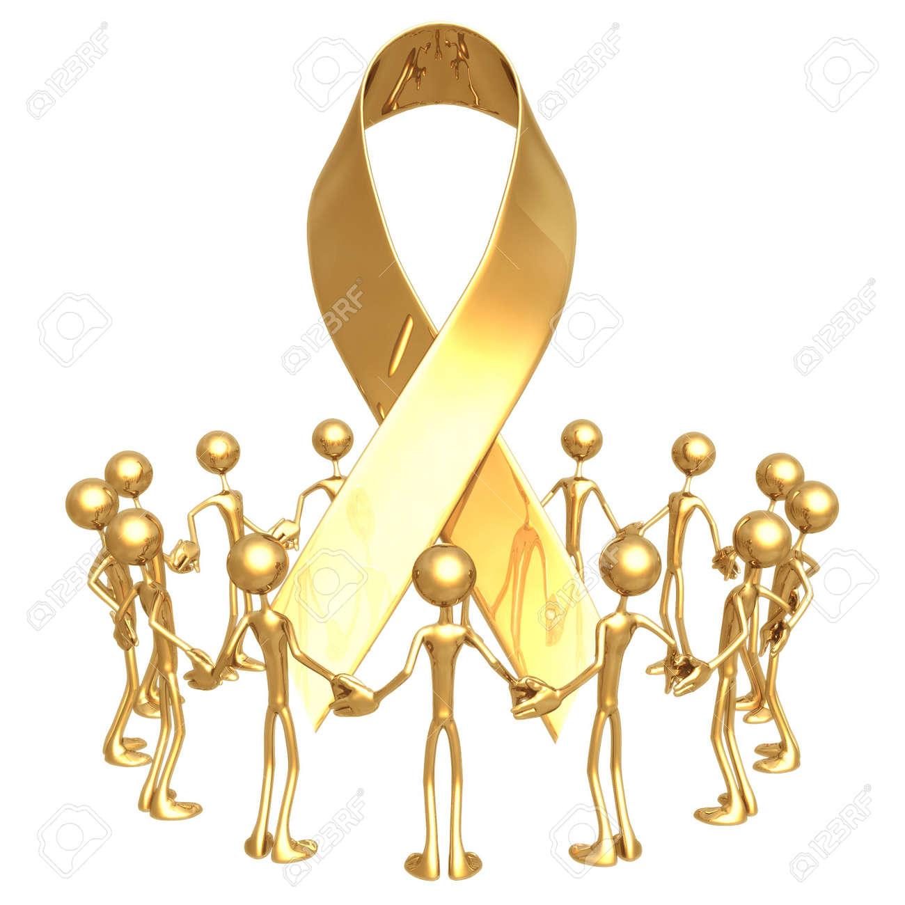 Group Awareness Ribbon Stock Photo - 818713
