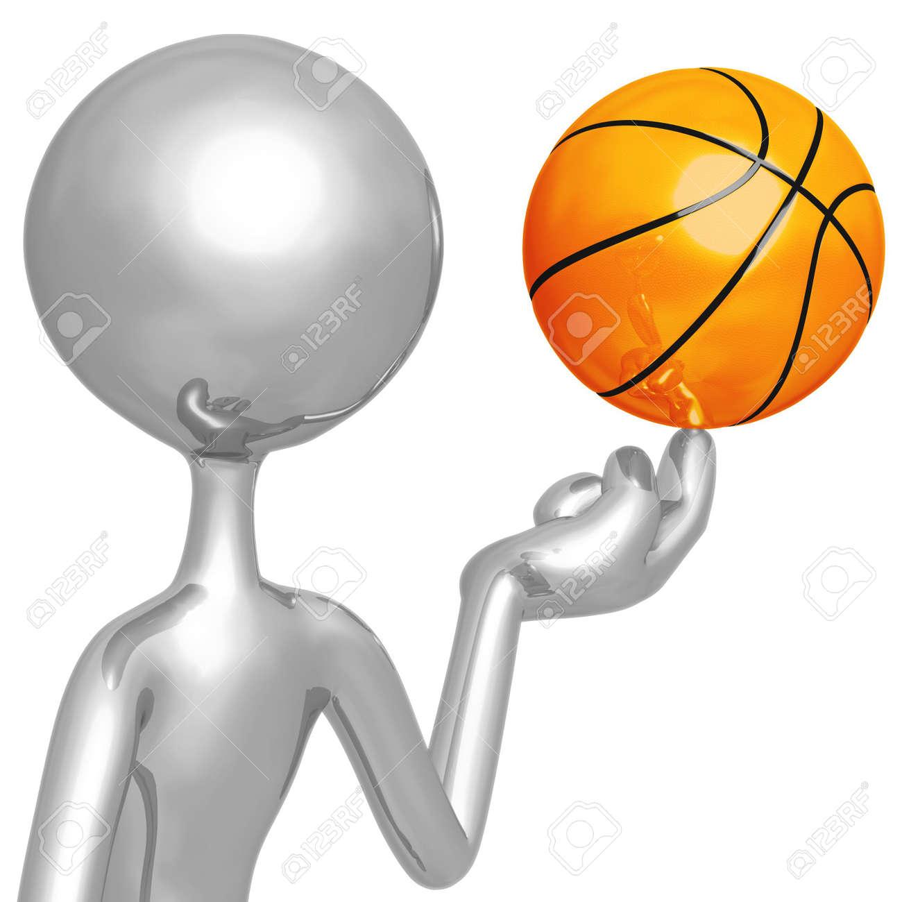 Spinning Basketball Stock Photo - 4356218