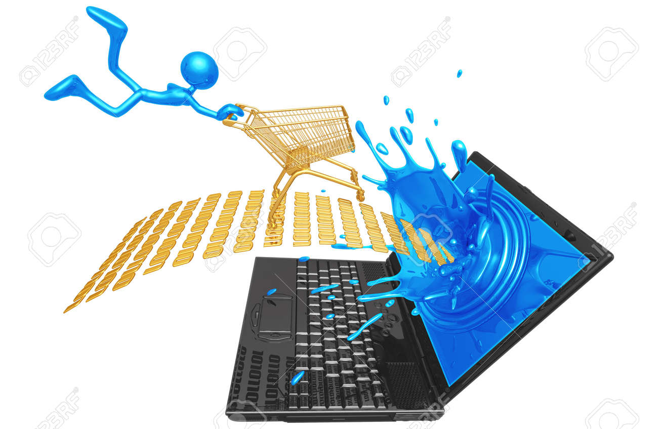 Extreme Online Shopping Stock Photo - 4365200