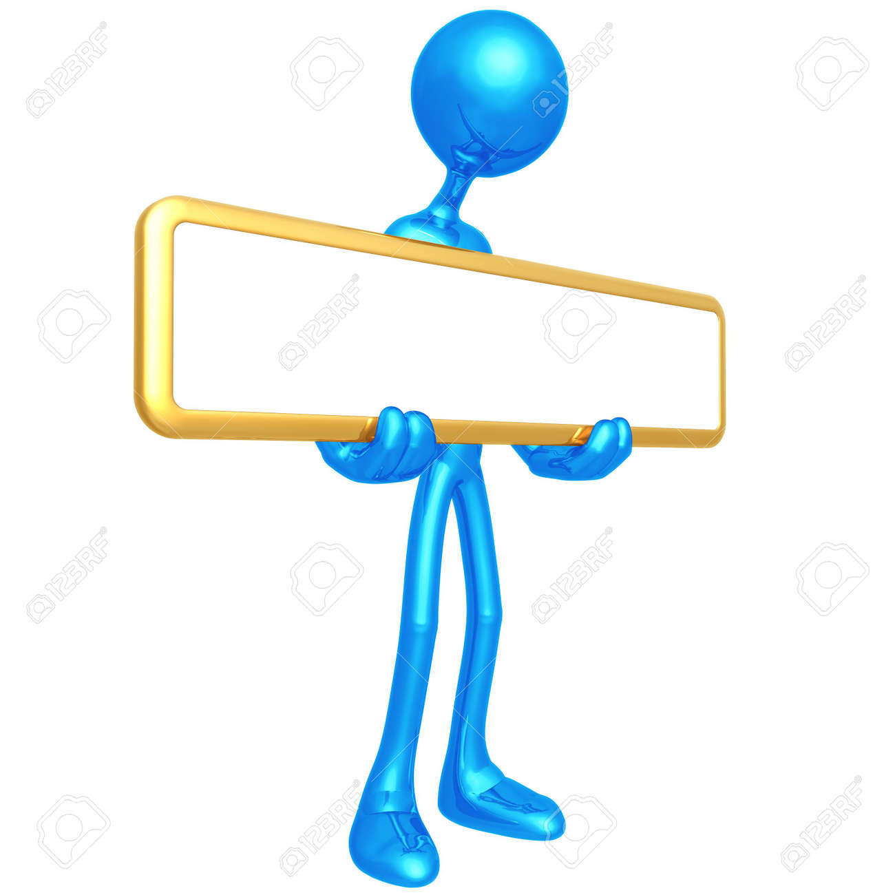 Holding Blank Sign Stock Photo - 4379912
