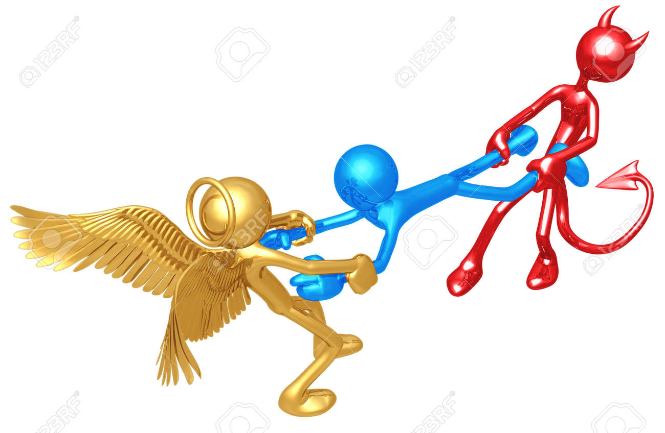 Deciding stock illustrations royalty free gograph - Good Versus Evil Stock Photo 4448172
