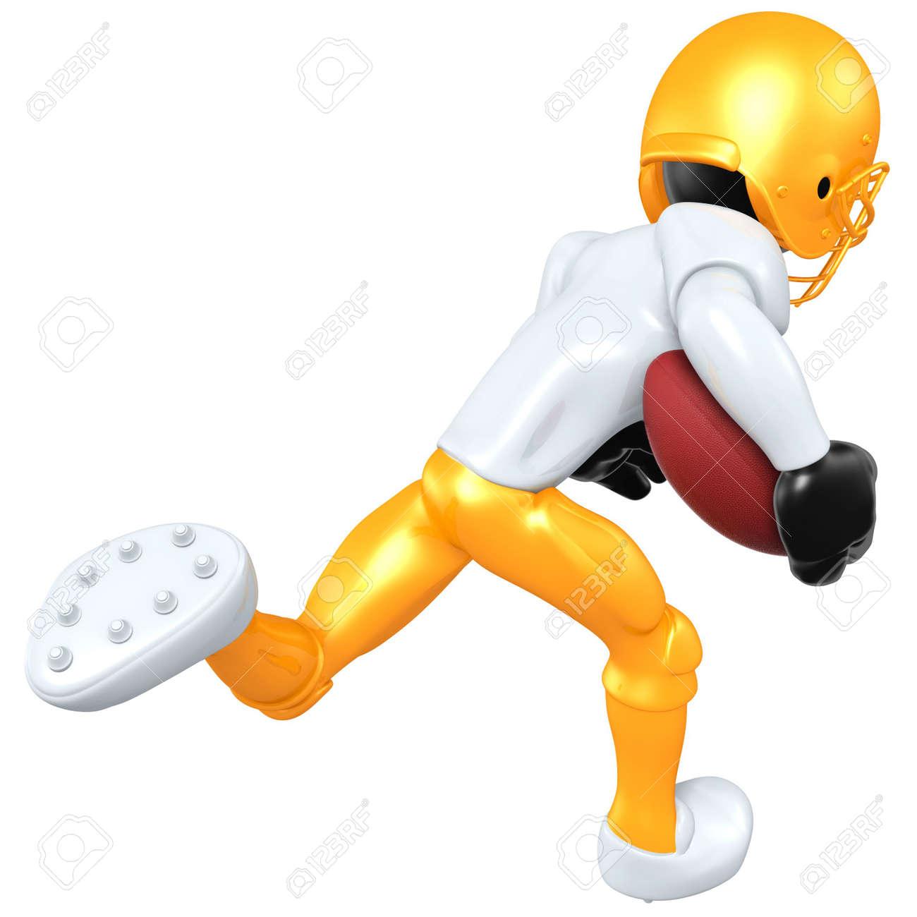 3D Football Player Stock Photo - 4750627