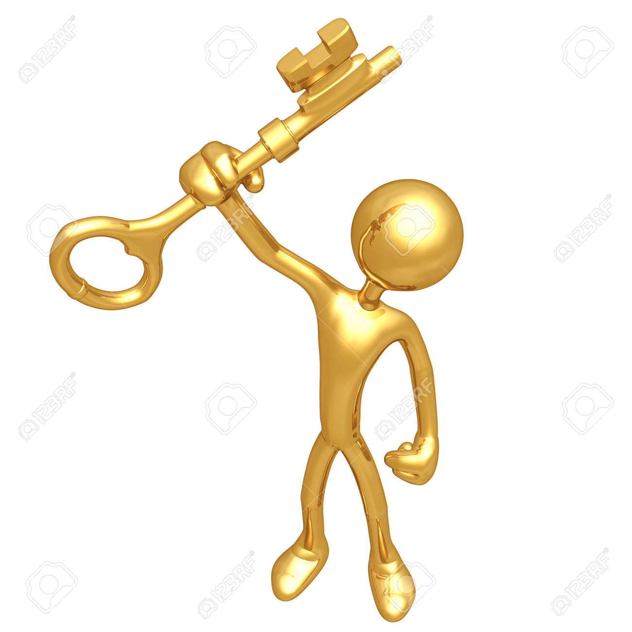 With golden key 3d rendering plan concept with golden key 3d rendering - Holding The Golden Key Stock Photo 4759212