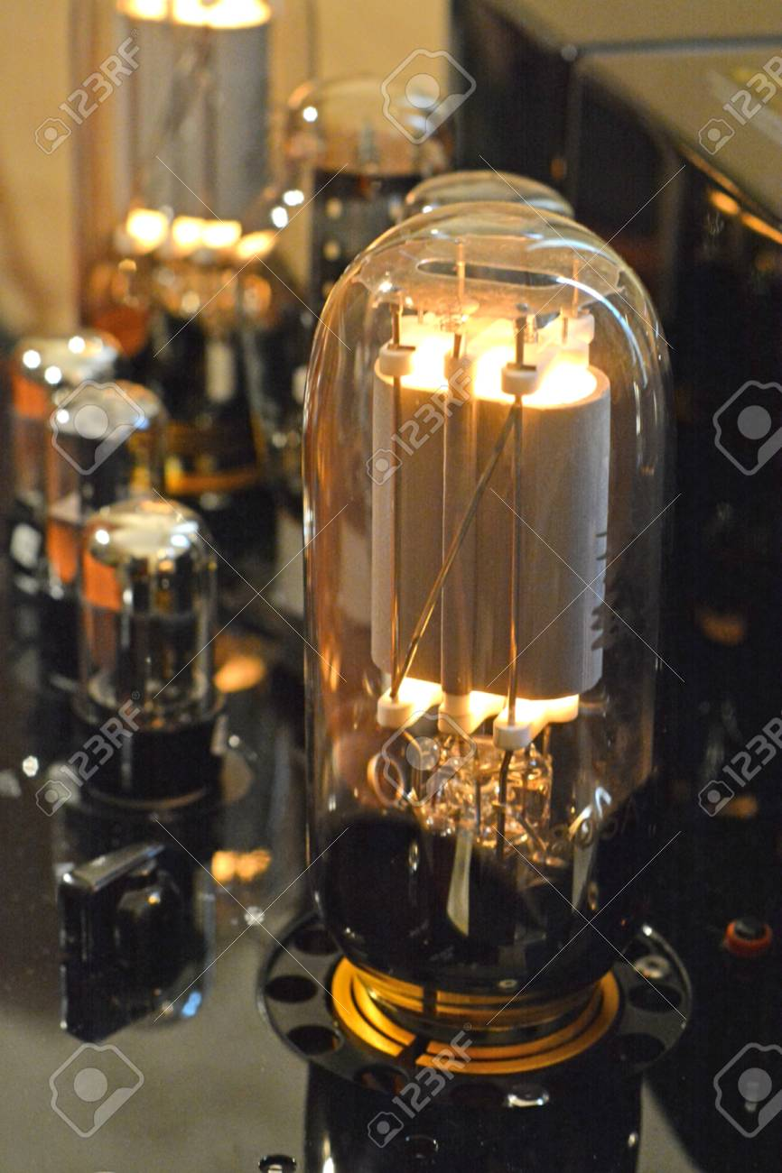 Electronic Vacuum tube amplifier  Power triode and gas diode