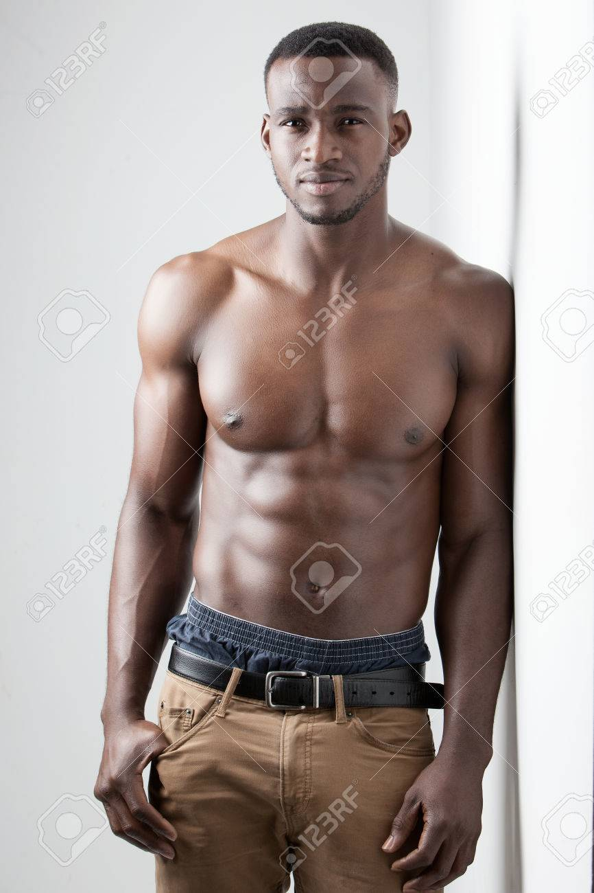 Men S Fitness Dark Skinned Model On White Background Stock Photo Picture And Royalty Free Image Image 47196642
