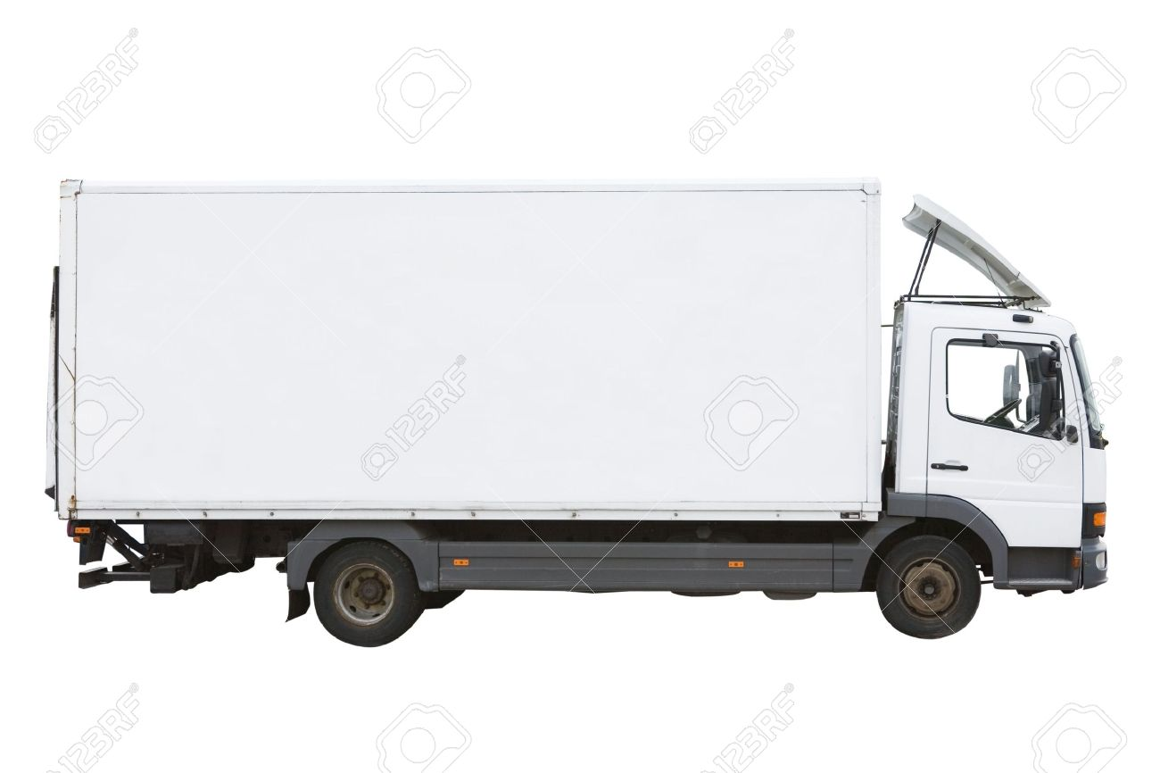 Blank white truck isolated on a white background Stock Photo - 2323006