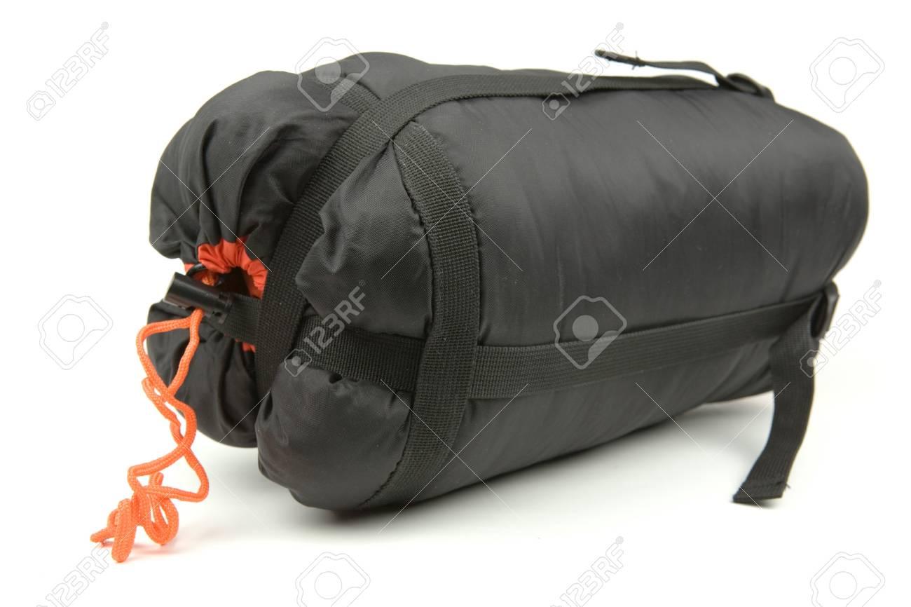 Sleeping bag isolated on a white backgroun Stock Photo - 2517571