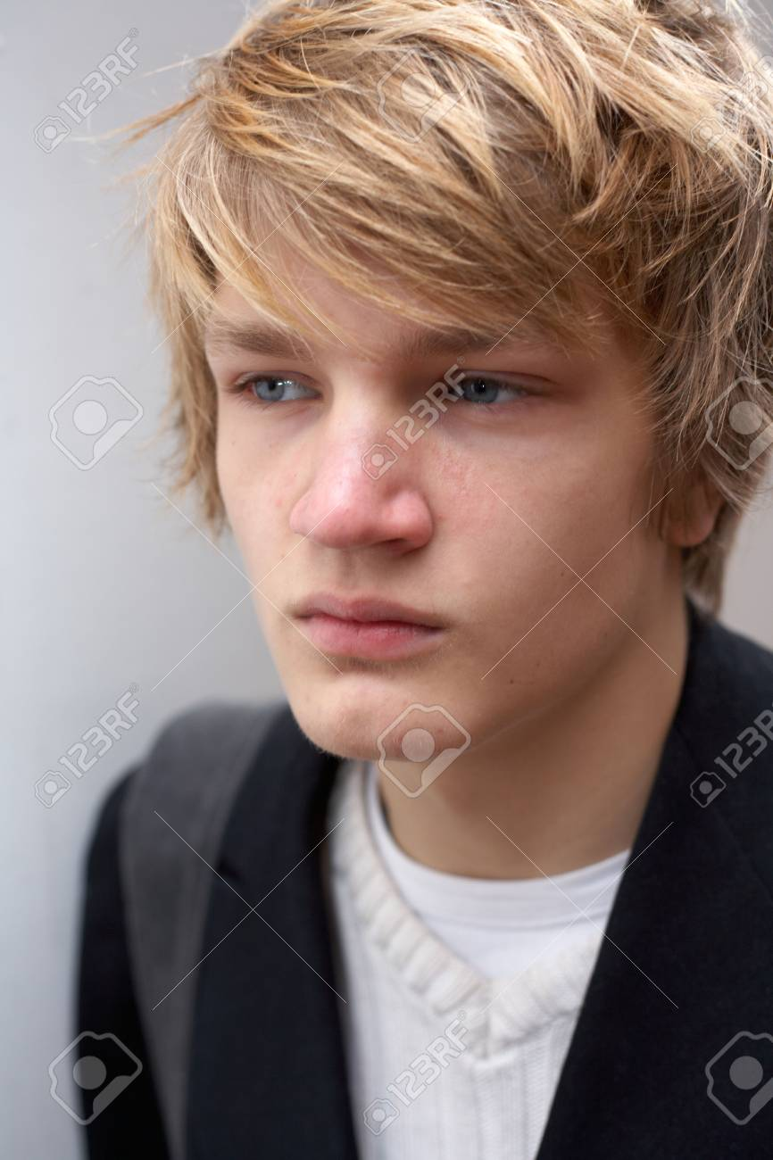 Portrait of teenage boy, close-up exterior Stock Photo - 3465989