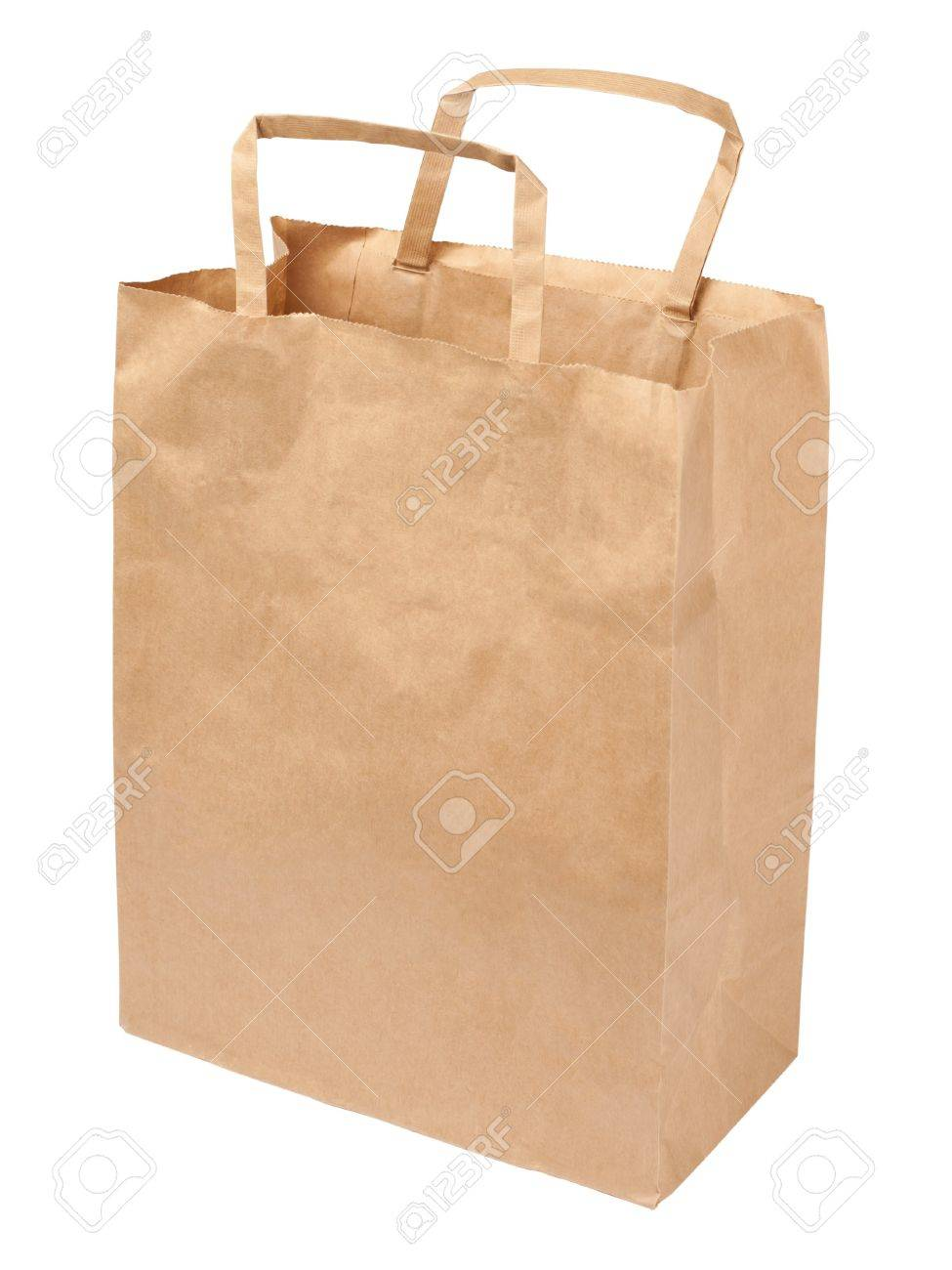 Paper bag isolated on white background Stock Photo - 8227163