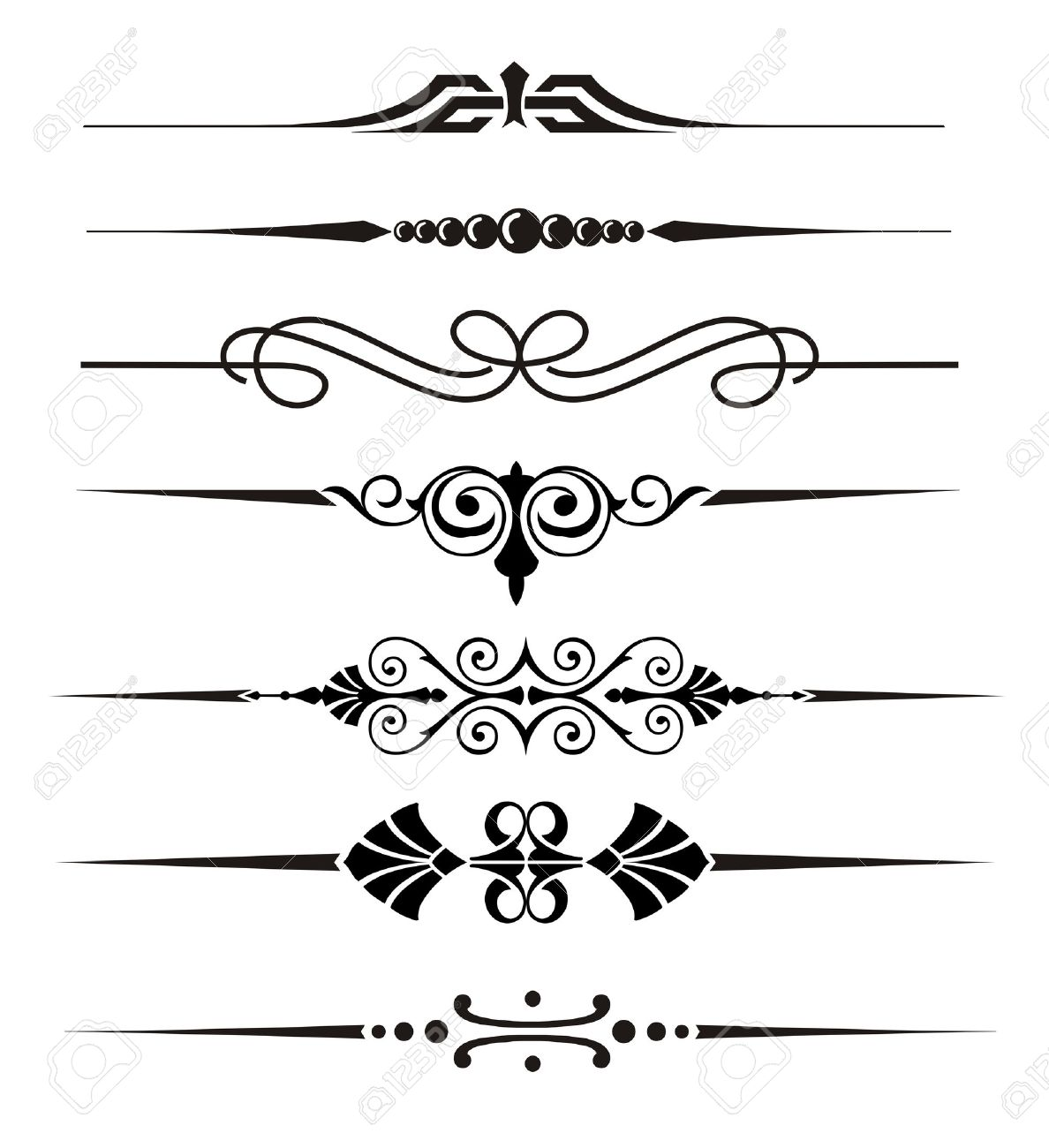 vecter divider ornaments and graphical elements royalty free