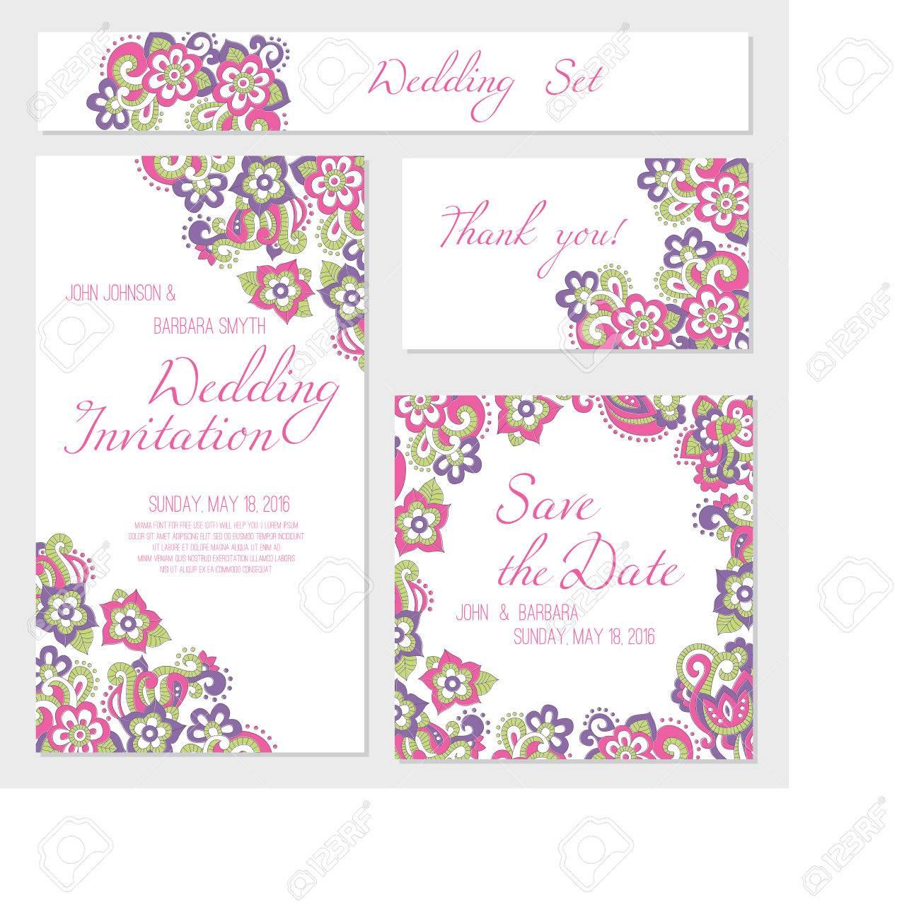 Set Hochzeitskarten Vorlagen Einladung Dankeschon Karte Retten