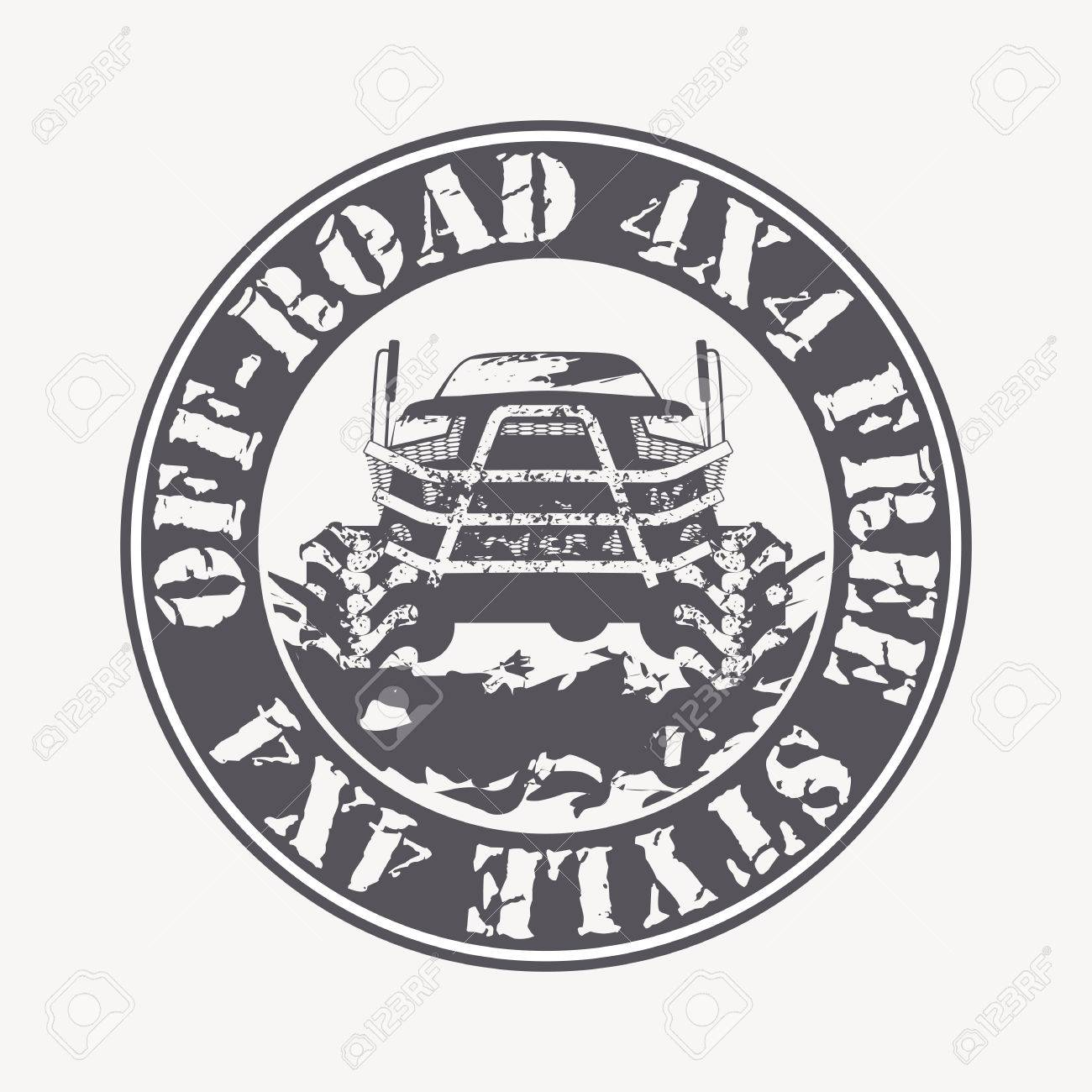 Off Road Vehicle Vector Emblem Off Road Club 4x4 Rally Off Road Extreme Expedition 4x4 Vehicle Illustration Royalty Free Cliparts Vetores E Ilustracoes Stock Image 58826725