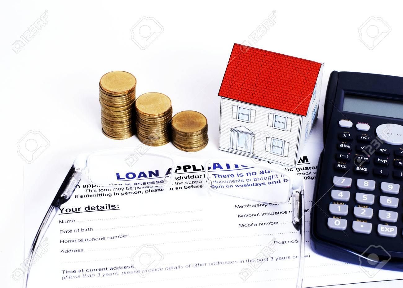 Hypothekendarlehen Konzept Mit Close Up Kreditantrag Formular Und ...