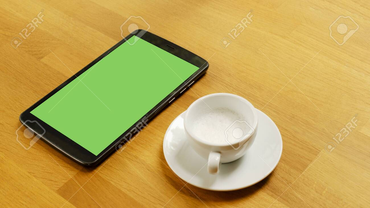 Life Technology With Tablet Device Green Screen And White