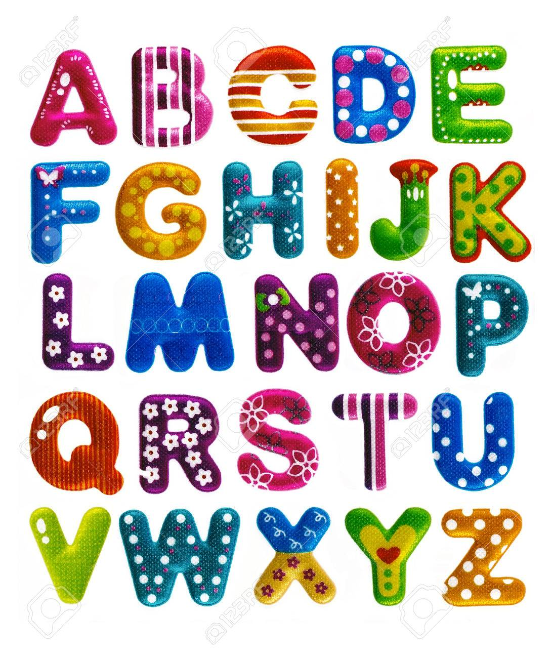 Funny English Alphabets Isolated On White Background Stock Photo, Picture  And Royalty Free Image. Image 44979772.