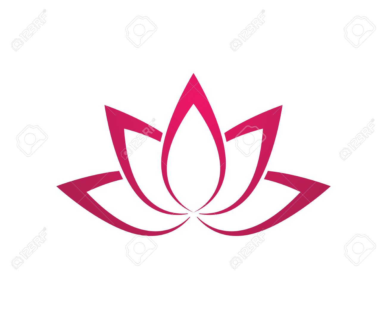 Stylized Lotus Flower Icon Vector Icon