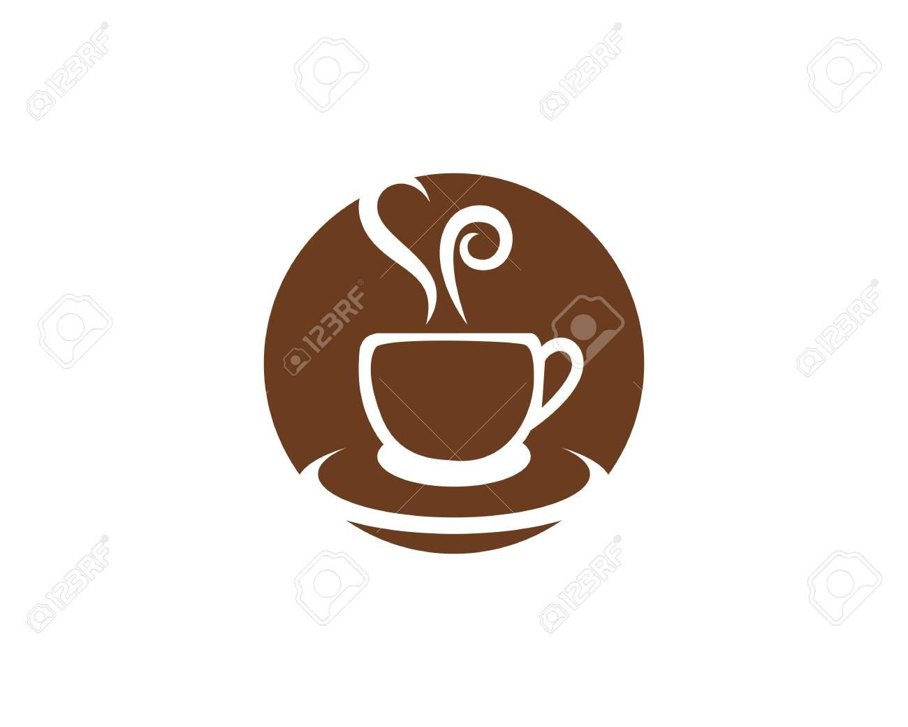 Plantilla Icono Icono Del Café Ilustraciones Vectoriales, Clip Art ...