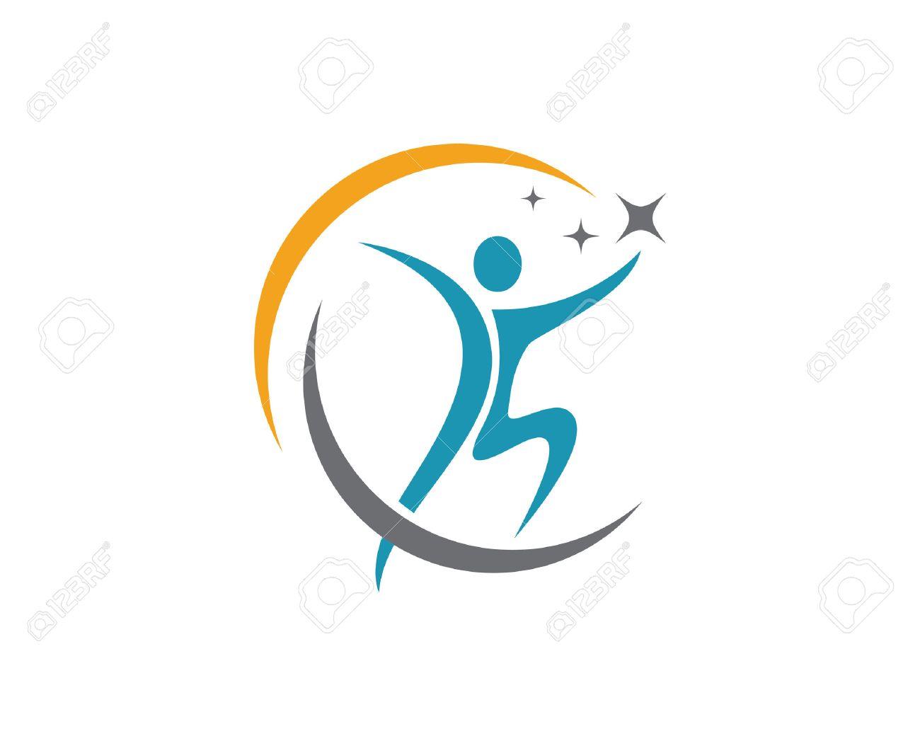 Gente De La Diversión Vida Saludable Plantilla Icono Logo ...