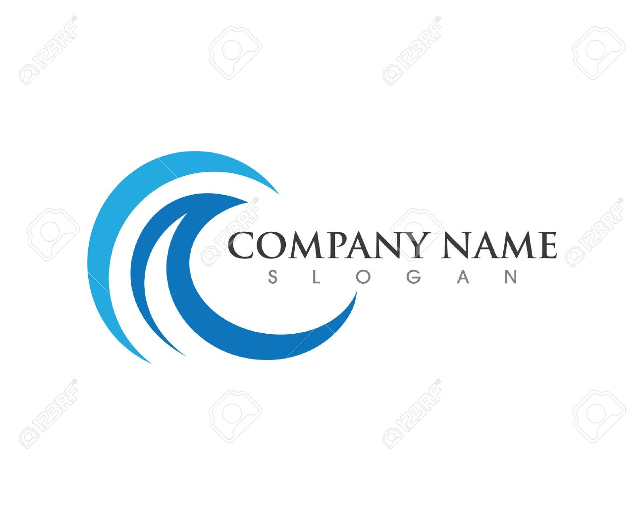 Logo Template | Water Wave Logo Template Royalty Free Cliparts Vectors And Stock