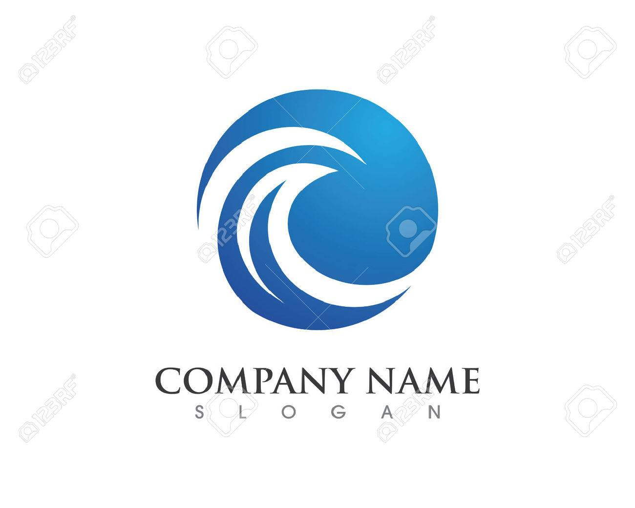 Water wave Logo Template - 59654347