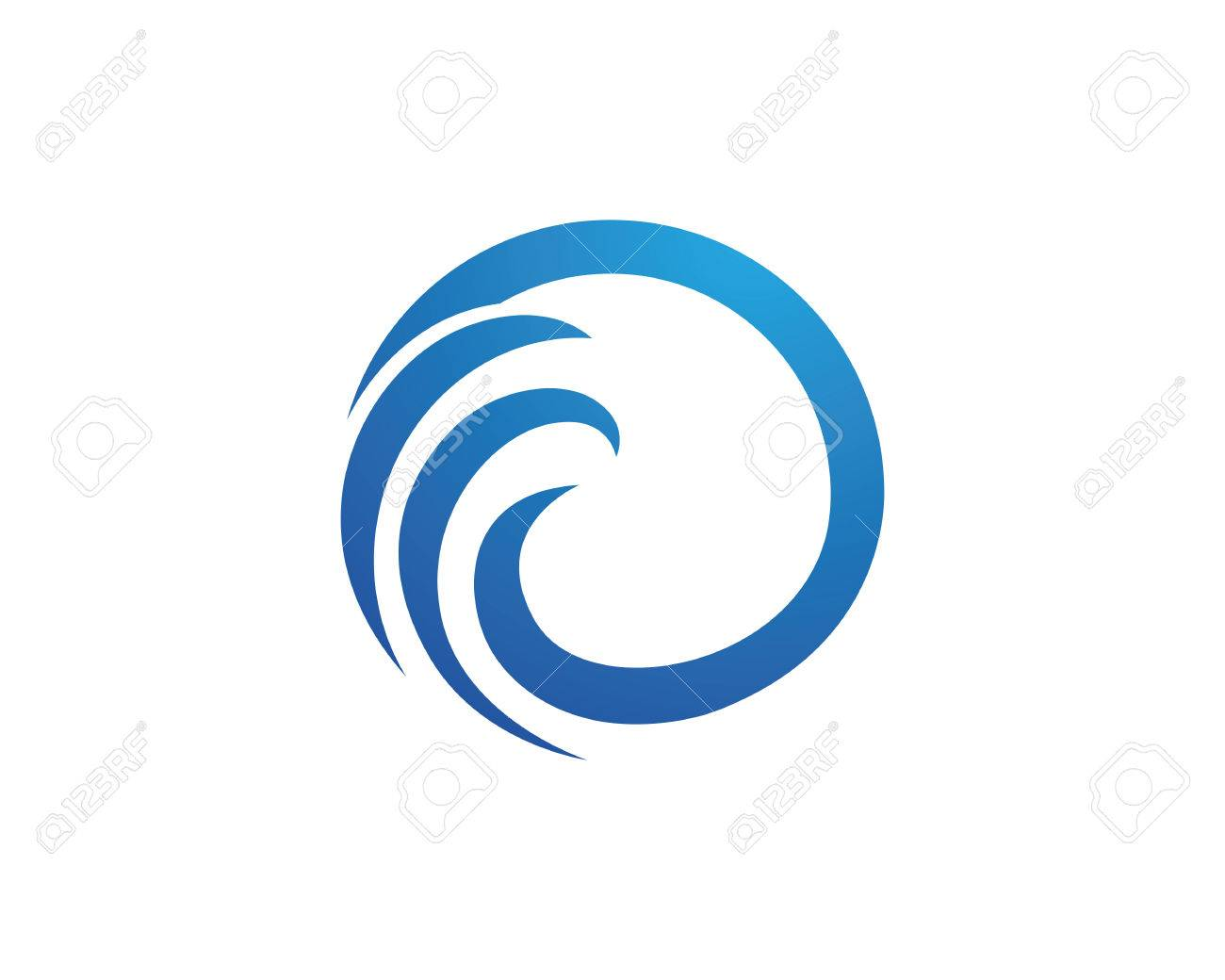 water wave logo template royalty free cliparts vectors and stock rh 123rf com wave logo design inspiration wave logos on pinterest