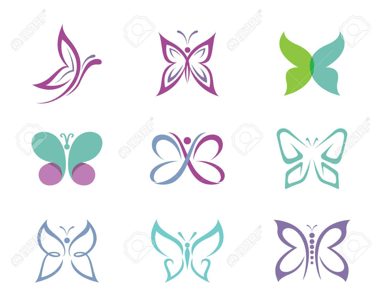 Beauty Butterfly Template Vector Icon Design Stock Vector   61065534