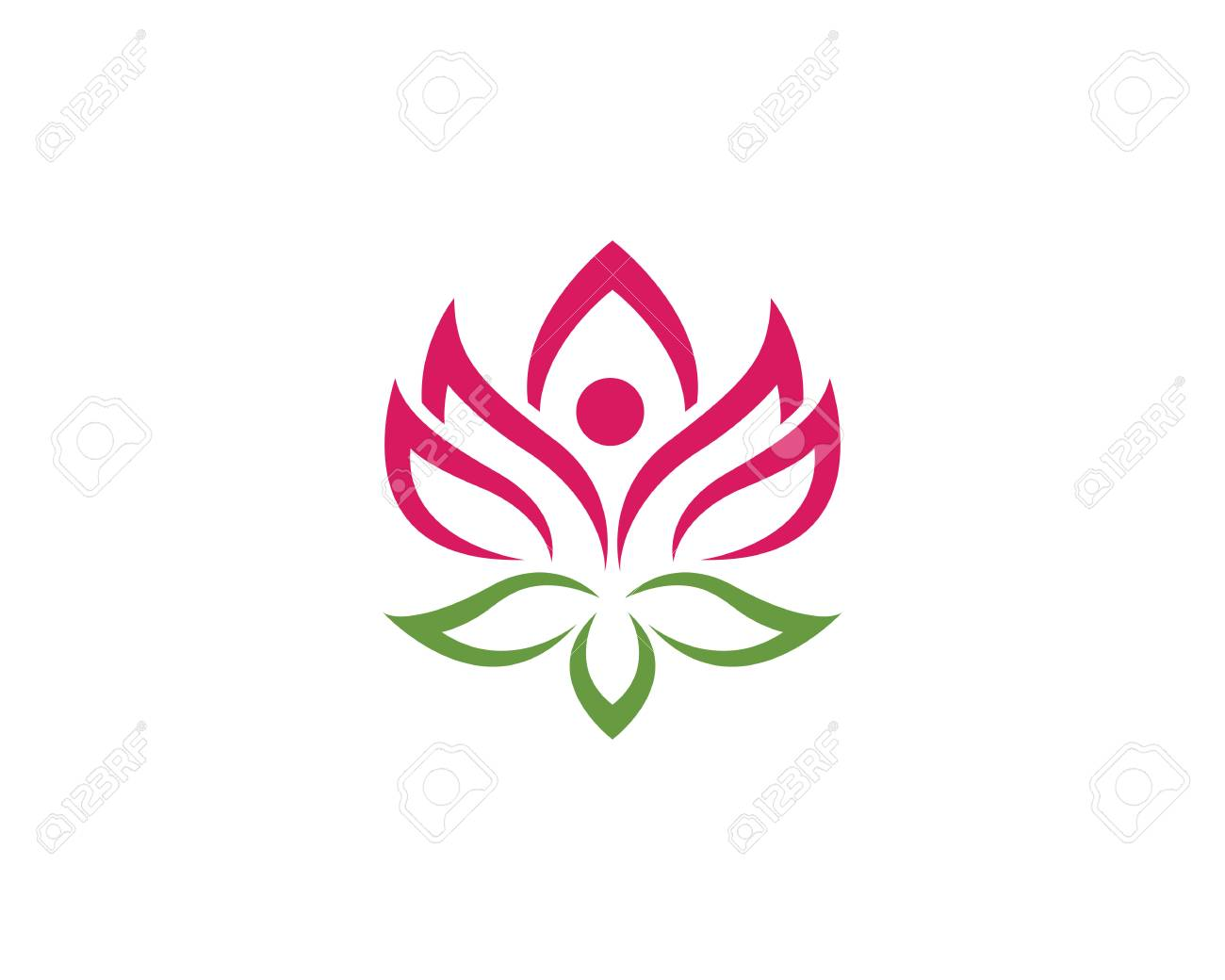 Beauty Vector Flowers Design Logo Template Royalty Free Cliparts