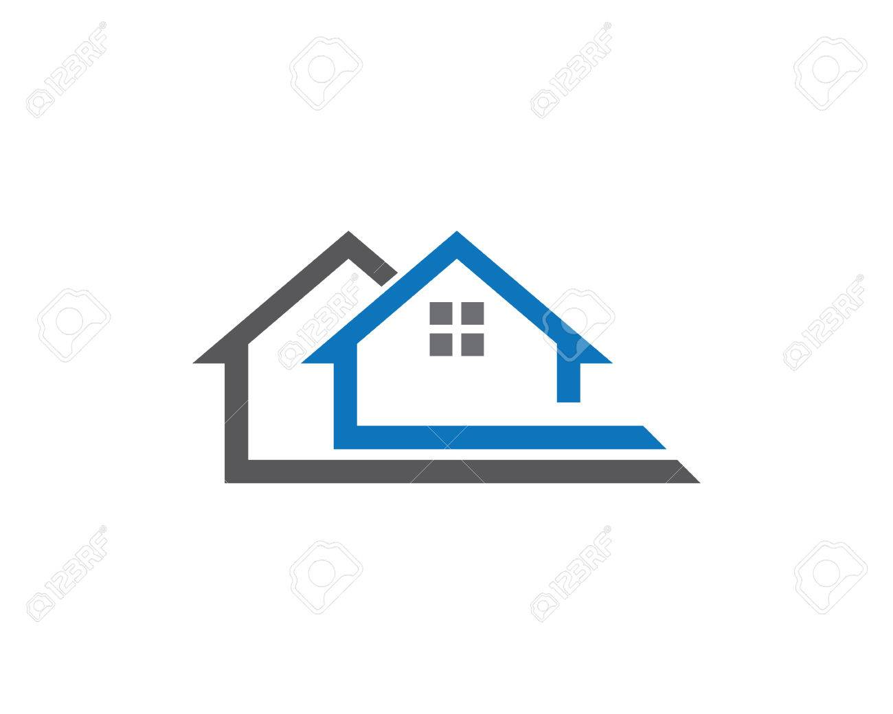 Home And Building Business Property Logo Template Royalty Free ...