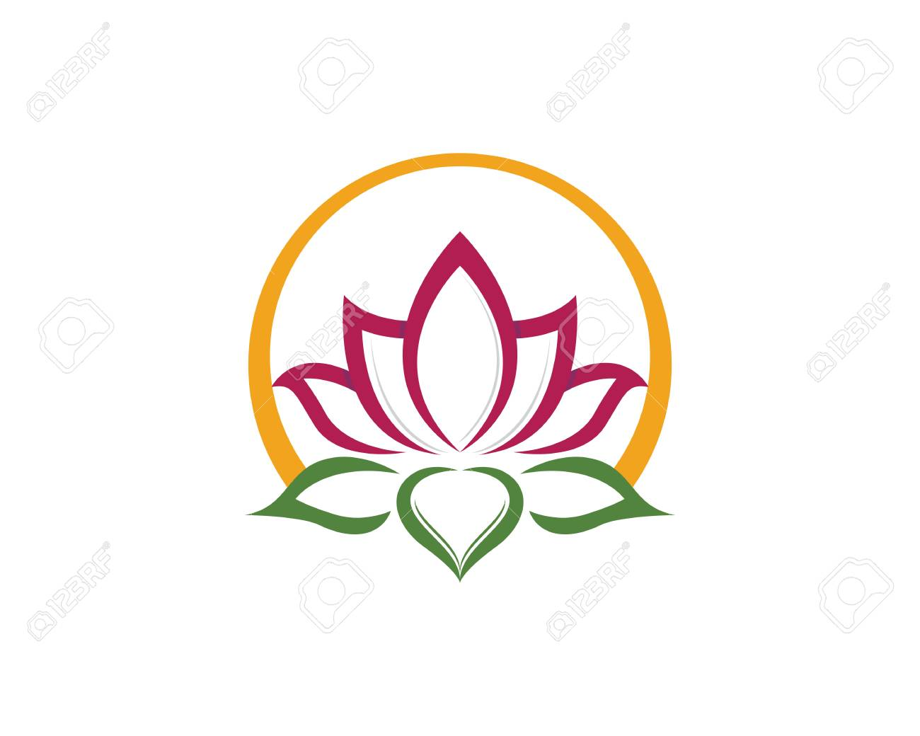 beauty lotus logo template royalty free cliparts vectors and stock