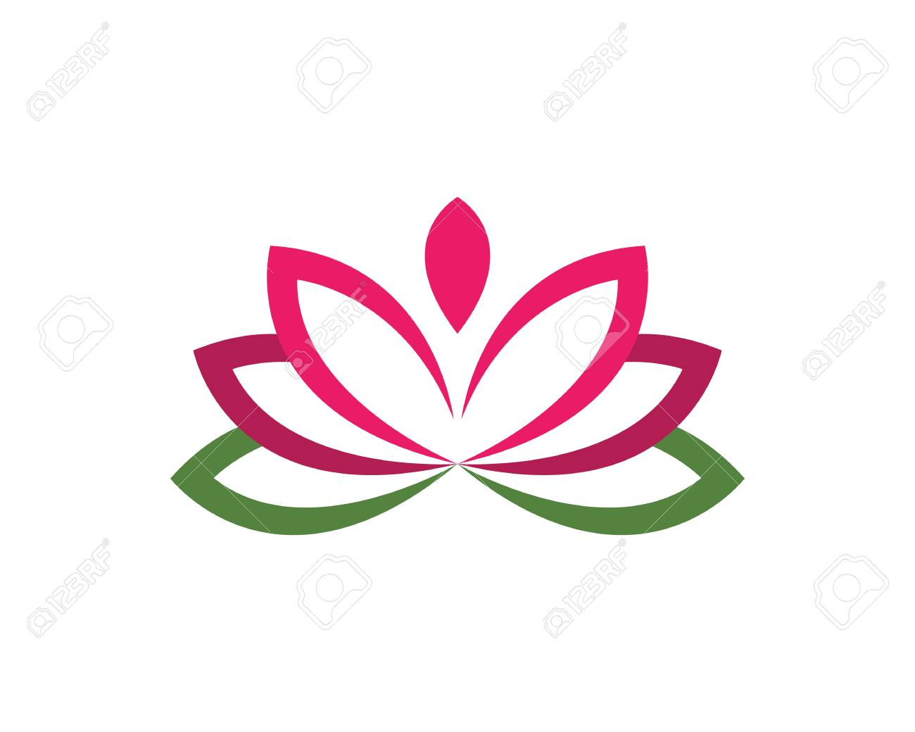 Beauty Vector Flowers Design Logo Template Icon Royalty Free
