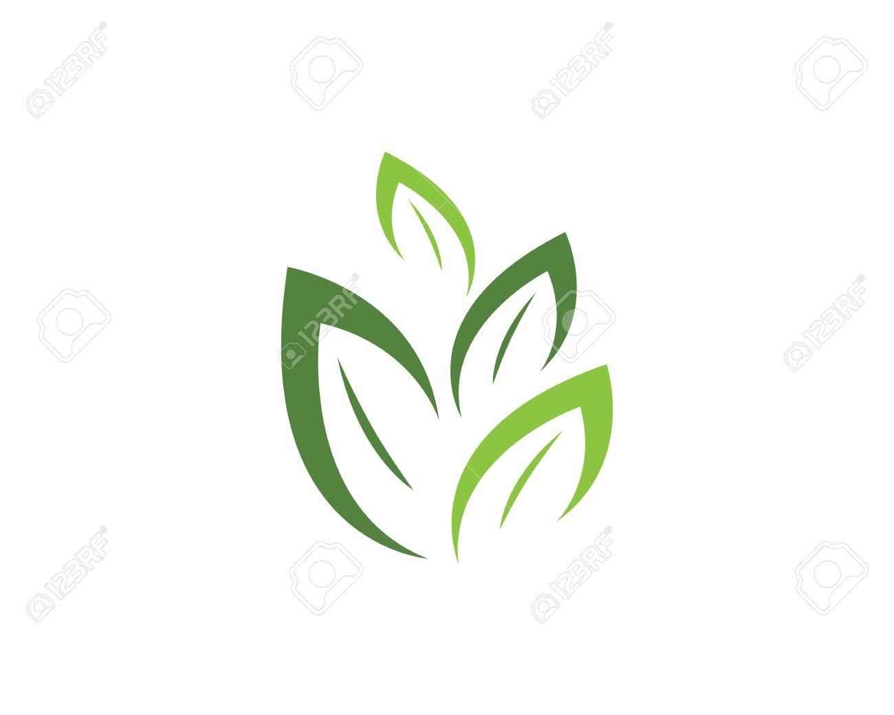 Plantilla Logotipo De La Hoja Del árbol De Eco Ilustraciones