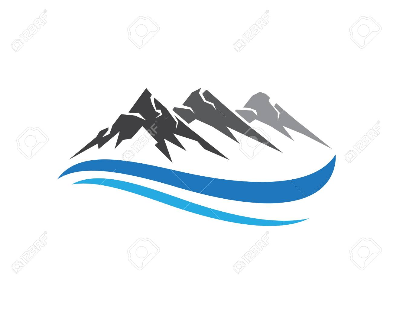 mountains logo template royalty free cliparts vectors and stock