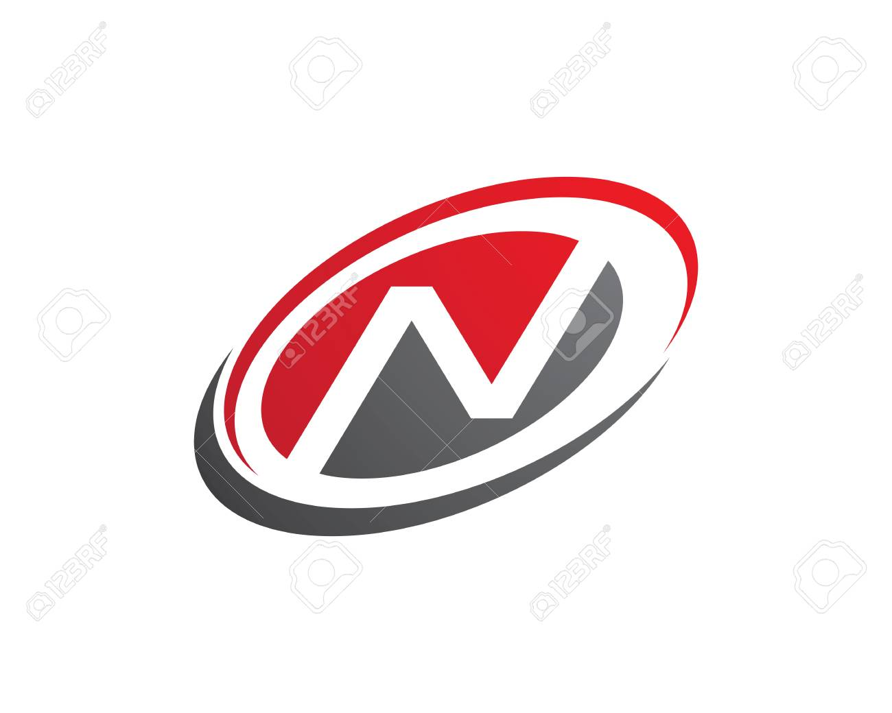 n letter logo template vector icon royalty free cliparts vectors