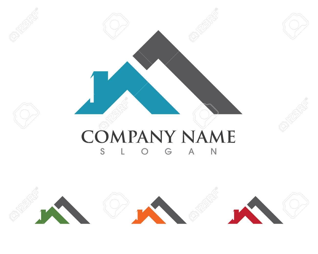 Archivio Fotografico - Real Estate, proprietà e costruzione Logo design per il segno aziendale aziendale.
